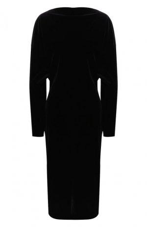 Шелковое платье Alaia. Цвет: черный