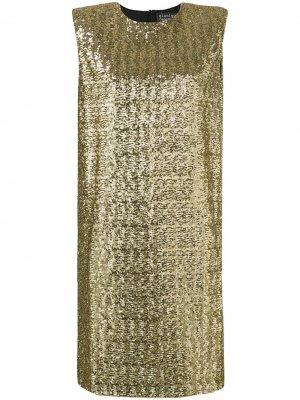 Коктейльное платье с пайетками Gianluca Capannolo. Цвет: золотистый