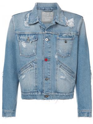Укороченная джинсовая куртка с рваными деталями MJB Marc Jacques Burton