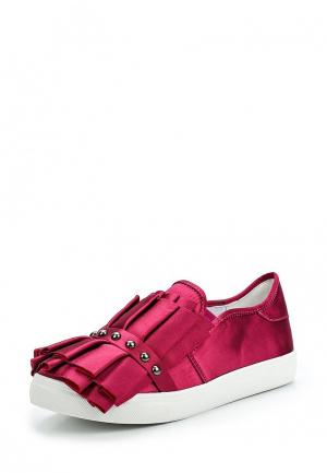 Слипоны LOST INK SARA RUFFLE AND STUD SLIP ON TRAINER. Цвет: розовый