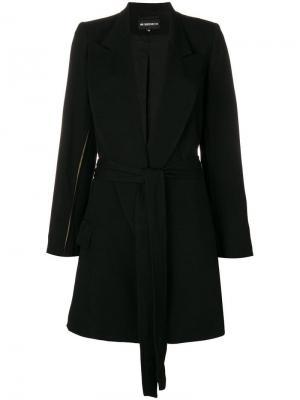 Пальто с контрастными вставками на рукавах Ann Demeulemeester