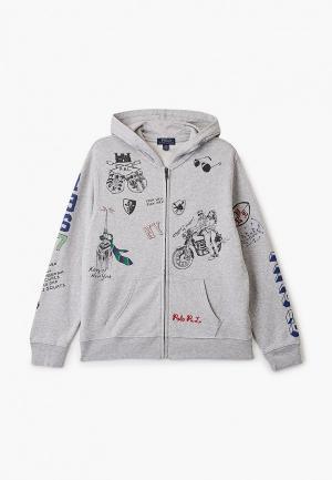 Толстовка Polo Ralph Lauren. Цвет: серый
