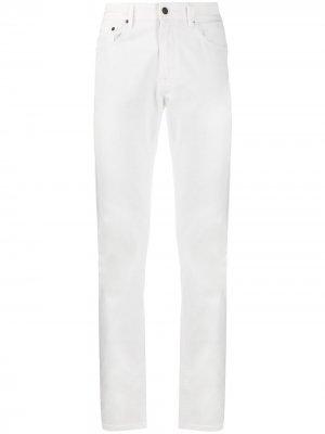 Прямые джинсы с завышенной талией Boglioli. Цвет: белый