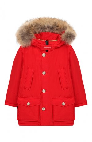 Парка с капюшоном Arctic Hc Woolrich. Цвет: красный