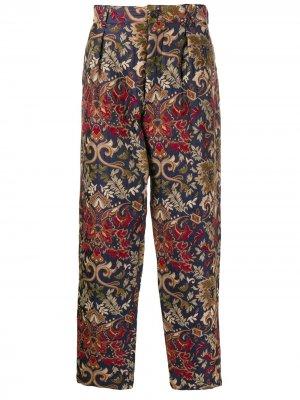 Жаккардовые брюки Carlyle прямого кроя Engineered Garments. Цвет: нейтральные цвета