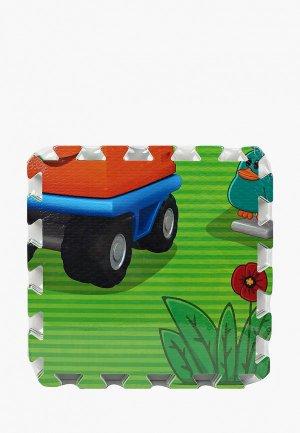 Коврик детский Играем Вместе рузовичок Лёва, 8 деталей. Цвет: разноцветный