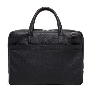 Кожаная деловая сумка для ноутбука Carter Black