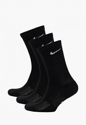 Комплект Nike KIDS PERFORMANCE CUSHIONED CREW TRAINING SOCKS (3 PAIR). Цвет: черный