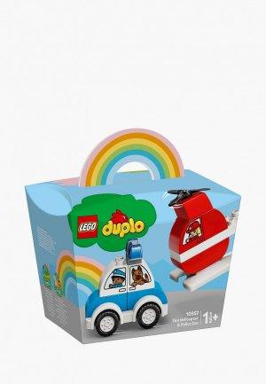 Конструктор LEGO Fire Helicopter & Police Car. Цвет: разноцветный