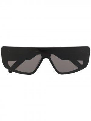 Солнцезащитные очки с прямым верхом Rick Owens. Цвет: черный