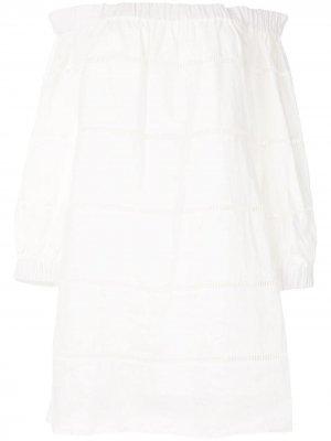 Платье мини Hartmann с открытыми плечами A.L.C.. Цвет: белый