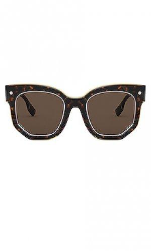 Солнцезащитные очки primrose Burberry. Цвет: коричневый