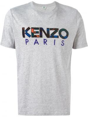 Футболки и жилеты Kenzo. Цвет: серый