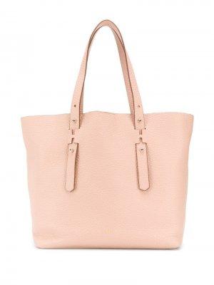 Большая сумка-тоут Hogan. Цвет: розовый