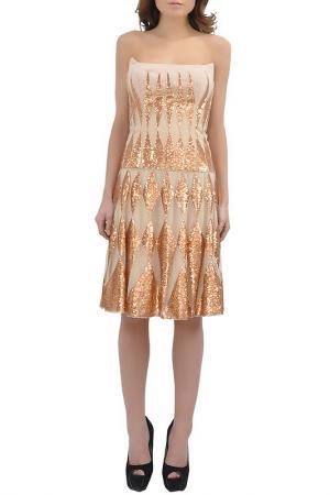 Платье Faust. Цвет: beige and gold
