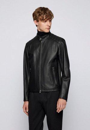 Куртка кожаная Boss Gelan. Цвет: черный