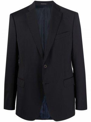 Однобортный пиджак Emporio Armani. Цвет: черный