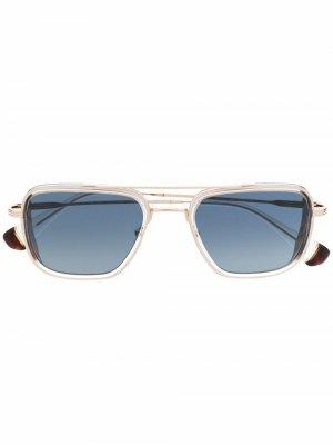 Солнцезащитные очки-авиаторы Simon GIGI STUDIOS. Цвет: золотистый