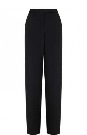 Однотонные расклешенные брюки из шелка Loro Piana. Цвет: темно-серый