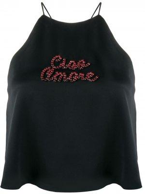 Укороченный топ Ciao Amore Giada Benincasa. Цвет: черный