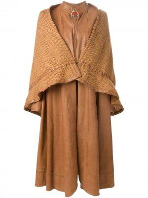Удлиненное многослойное пальто Roberta di Camerino Pre-Owned. Цвет: нейтральные цвета