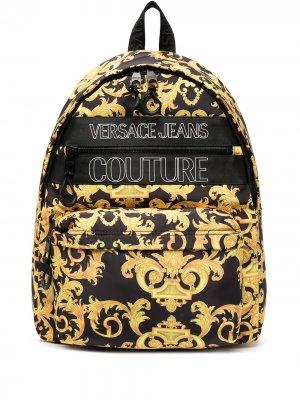 Рюкзак с логотипом Versace Jeans Couture. Цвет: черный