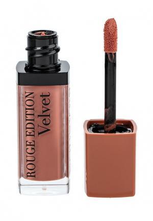 Помада Bourjois Rouge Edition Velvet, 17 Cool Brown, 7,7 мл. Цвет: коралловый