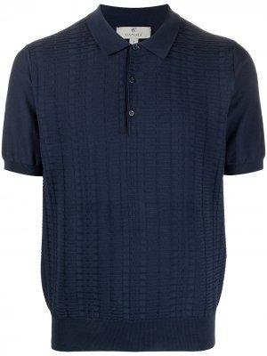 Рубашка поло с вышивкой Canali. Цвет: синий
