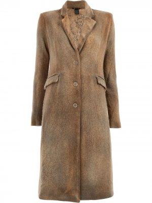 Классическое двубортное пальто Avant Toi. Цвет: коричневый