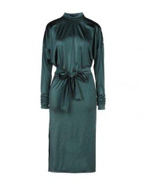 Платье до колена GESTUZ. Цвет: темно-зеленый