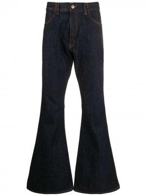 Расклешенные джинсы Canyon YMC. Цвет: синий