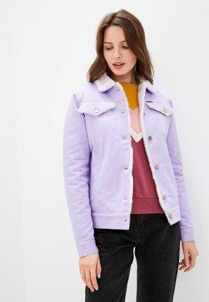 Куртка джинсовая Dasti. Цвет: фиолетовый