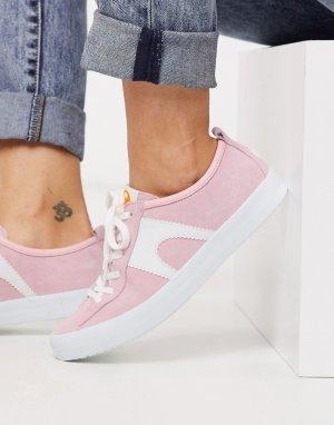 Розовые замшевые кроссовки Imar-Розовый Camper