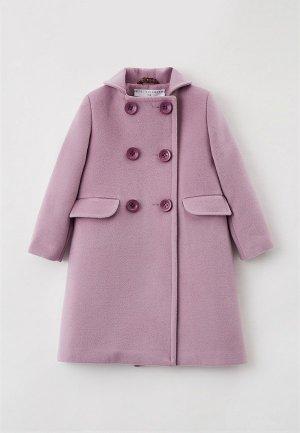 Пальто Ete Children. Цвет: фиолетовый