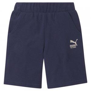 Детские шорты T4C Knitted Kids Shorts PUMA. Цвет: синий