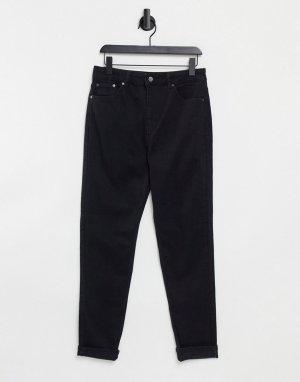 Черные зауженные джинсы Joni Premium-Черный цвет Topshop