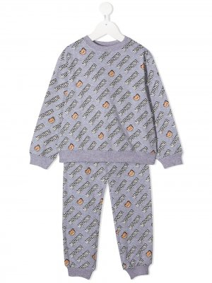 Спортивный костюм с принтом Teddy Bear Moschino Kids. Цвет: серый
