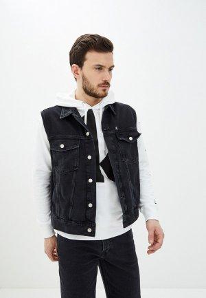 Жилет джинсовый Calvin Klein Jeans CK One. Цвет: черный