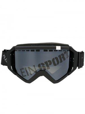 Солнцезащитные очки с логотипом Plein Sport. Цвет: черный