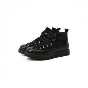 Комбинированные ботинки M130 Fracap. Цвет: чёрный