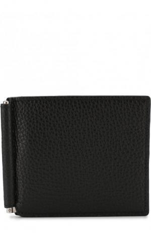 Кожаный зажим для купюр с отделениями кредитных карт Canali. Цвет: черный
