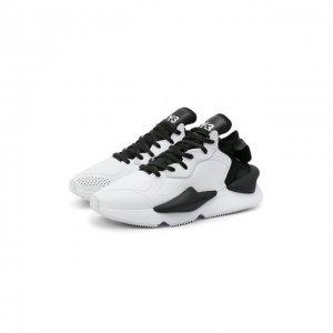 Кожаные кроссовки Kaiwa Y-3. Цвет: белый