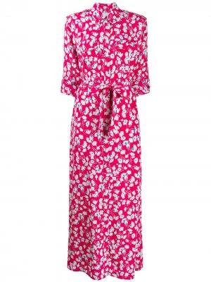 Платье-рубашка Major Maxi с поясом Equipment. Цвет: розовый