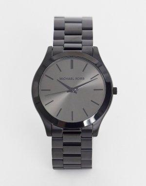 Черные узкие часы-браслет runway MK8507-Черный цвет Michael Kors