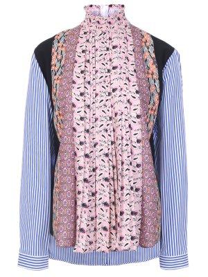 Блуза с принтом PRADA