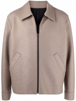 Фетровая куртка-рубашка Harris Wharf London. Цвет: нейтральные цвета