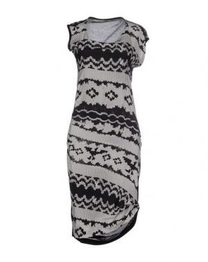 Платье до колена INSIDEOUT. Цвет: черный