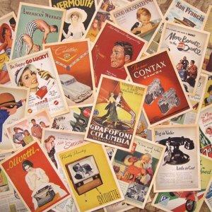 Старинные Знаменитые Плакат Печати Открытка 32 листов SHEIN