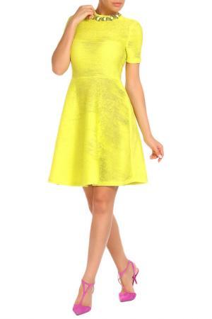 Платье Aftershock. Цвет: лимонный
