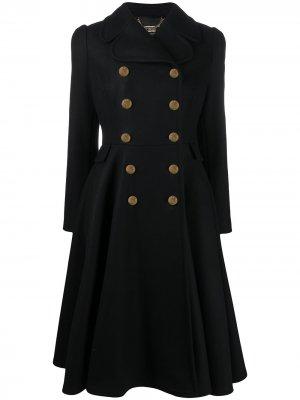 Пальто А-силуэта Elisabetta Franchi. Цвет: черный
